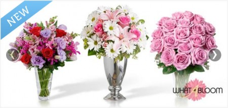 WhatABloom - Mother's Day - $50 for a $100 Credit Towards Flowers, Bouquets, & More Delivered Anywhere in Canada (50 Off)