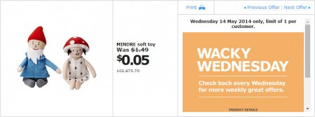 IKEA - Calgary Wacky Wednesday Deal of the Day (May 14)