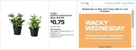 IKEA - Calgary Wacky Wednesday Deal of the Day (May 21)