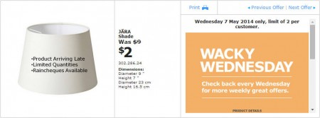 IKEA - Calgary Wacky Wednesday Deal of the Day (May 7) A
