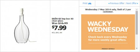 IKEA - Calgary Wacky Wednesday Deal of the Day (May 7) B