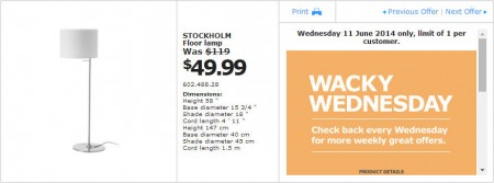 IKEA - Calgary Wacky Wednesday Deal of the Day (June 11)