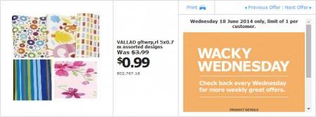 IKEA - Calgary Wacky Wednesday Deal of the Day (June 18)