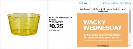 IKEA - Calgary Wacky Wednesday Deal of the Day (June 25)