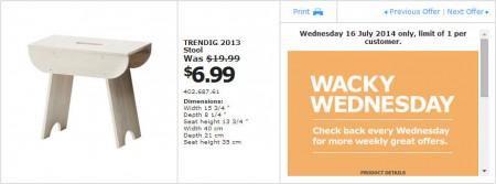 IKEA - Calgary Wacky Wednesday Deal of the Day (July 16)