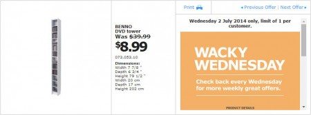 IKEA - Calgary Wacky Wednesday Deal of the Day (July 2)