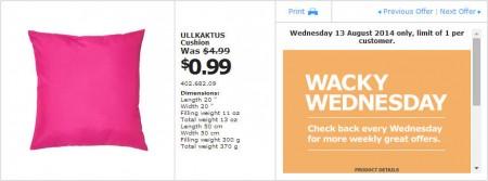 IKEA - Calgary Wacky Wednesday Deal of the Day (Aug 13)