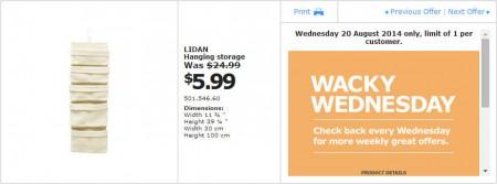 IKEA - Calgary Wacky Wednesday Deal of the Day (Aug 20)