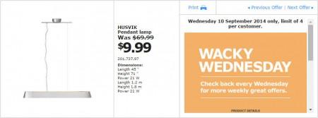 IKEA - Calgary Wacky Wednesday Deal of the Day (Sept 10)