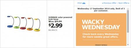 IKEA - Calgary Wacky Wednesday Deal of the Day (Sept 17)