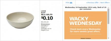 IKEA - Calgary Wacky Wednesday Deal of the Day (Sept 24)