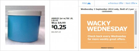 IKEA - Calgary Wacky Wednesday Deal of the Day (Sept 3) A