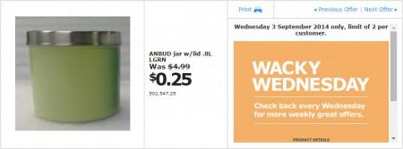 IKEA - Calgary Wacky Wednesday Deal of the Day (Sept 3) B