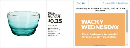 IKEA - Calgary Wacky Wednesday Deal of the Day (Oct 15)