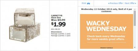 IKEA - Calgary Wacky Wednesday Deal of the Day (Oct 22)