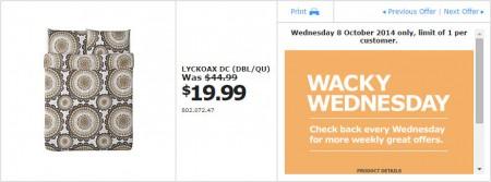 IKEA - Calgary Wacky Wednesday Deal of the Day (Oct 8)