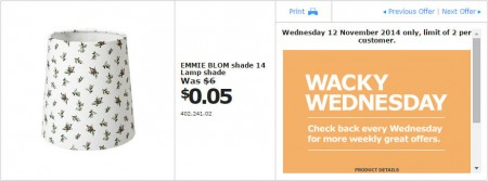 IKEA - Calgary Wacky Wednesday Deal of the Day (Nov 12)