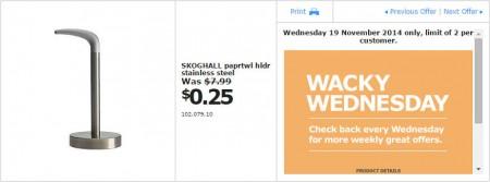 IKEA - Calgary Wacky Wednesday Deal of the Day (Nov 19) A