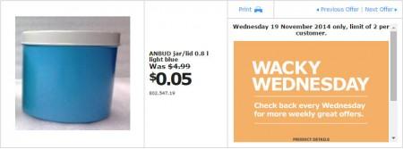 IKEA - Calgary Wacky Wednesday Deal of the Day (Nov 19) B
