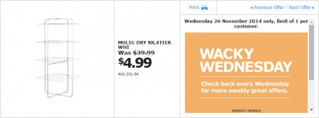 IKEA - Calgary Wacky Wednesday Deal of the Day (Nov 26) A