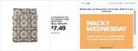 IKEA - Calgary Wacky Wednesday Deal of the Day (Nov 26) B