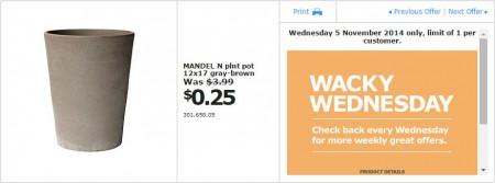 IKEA - Calgary Wacky Wednesday Deal of the Day (Nov 5)