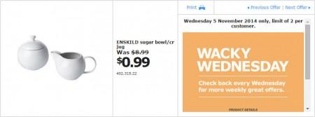 IKEA - Calgary Wacky Wednesday Deal of the Day (Nov 5) A