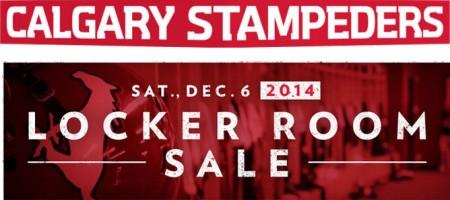 Calgary Stampeders Locker Room Sale (Dec 6)