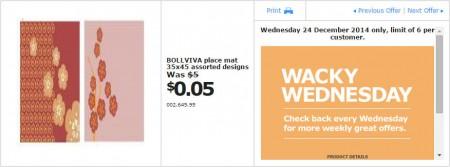 IKEA - Calgary Wacky Wednesday Deal of the Day (Dec 24)