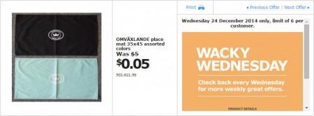 IKEA - Calgary Wacky Wednesday Deal of the Day (Dec 24) B
