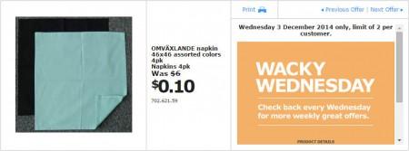 IKEA - Calgary Wacky Wednesday Deal of the Day (Dec 3) A