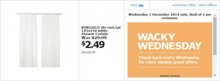 IKEA - Calgary Wacky Wednesday Deal of the Day (Dec 3) B