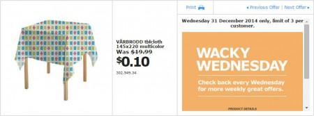 IKEA - Calgary Wacky Wednesday Deal of the Day (Dec 31) A
