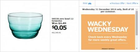 IKEA - Calgary Wacky Wednesday Deal of the Day (Dec 31) B