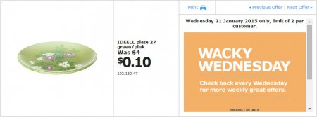 IKEA - Calgary Wacky Wednesday Deal of the Day (Jan 21) A