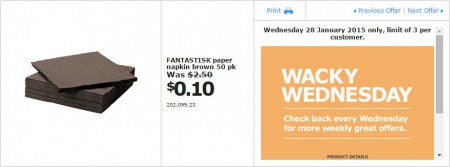 IKEA - Calgary Wacky Wednesday Deal of the Day (Jan 28) B