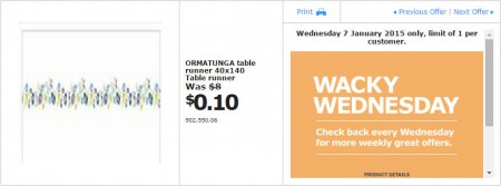 IKEA - Calgary Wacky Wednesday Deal of the Day (Jan 7) A