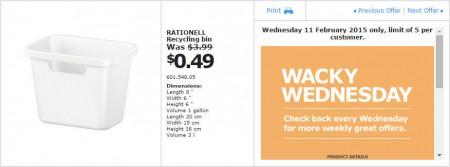 IKEA - Calgary Wacky Wednesday Deal of the Day (Feb 11) A