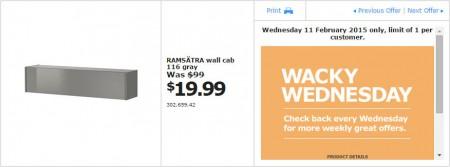 IKEA - Calgary Wacky Wednesday Deal of the Day (Feb 11) B