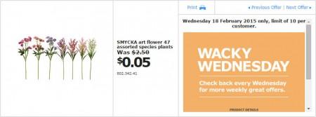 IKEA - Calgary Wacky Wednesday Deal of the Day (Feb 18) A