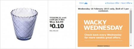 IKEA - Calgary Wacky Wednesday Deal of the Day (Feb 18) B