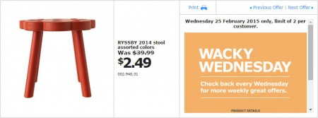 IKEA - Calgary Wacky Wednesday Deal of the Day (Feb 25) A