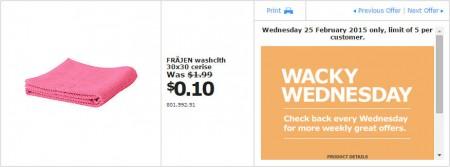 IKEA - Calgary Wacky Wednesday Deal of the Day (Feb 25) B