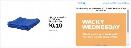IKEA - Calgary Wacky Wednesday Deal of the Day (Feb 25) C