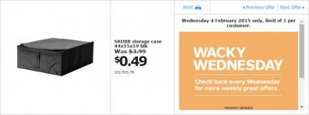 IKEA - Calgary Wacky Wednesday Deal of the Day (Feb 4) A