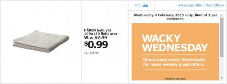 IKEA - Calgary Wacky Wednesday Deal of the Day (Feb 4) B