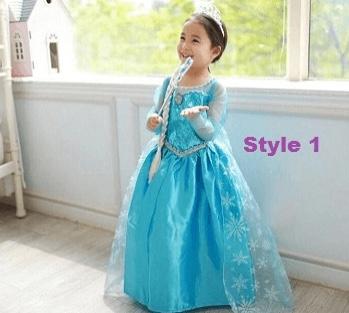 Elsa or Anna Children's Frozen Dress