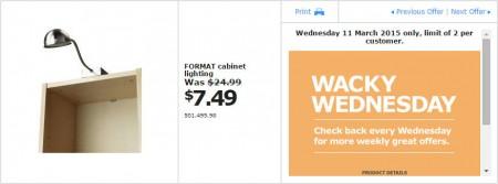 IKEA - Calgary Wacky Wednesday Deal of the Day (Mar 11) A