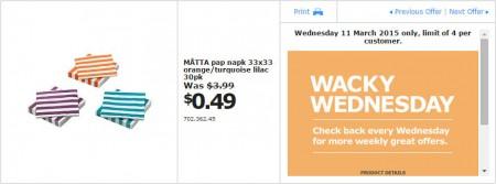 IKEA - Calgary Wacky Wednesday Deal of the Day (Mar 11) B