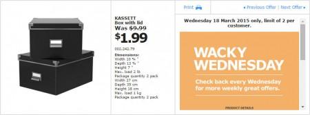 IKEA - Calgary Wacky Wednesday Deal of the Day (Mar 18) A